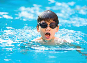 Boy Swimming