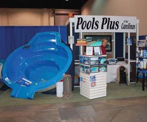Pools Plus of Carolinas - vendor booth - Carolina Living Show