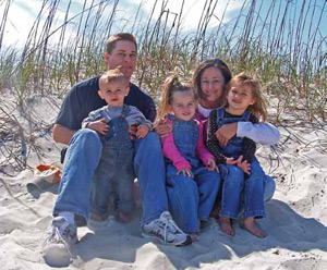 Stephanie Adams, Scentsy director - Myrtle Beach, SC and family