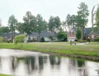 Waterway view of homes in Myrtle Beach's Carolina Forest